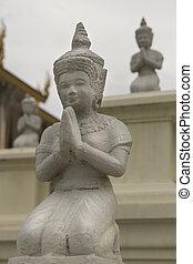 Cambodia Statues - Royal Palace Buddhidt Statue, Cambodia