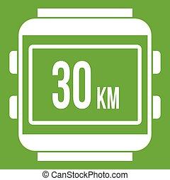 Speedometer bike icon green - Speedometer bike icon white...