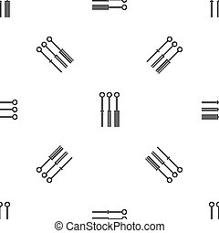 Tattoo needles pattern seamless black - Tattoo needles...