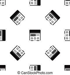 Professional tattoo machine pattern seamless black -...