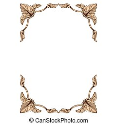 Classic vintage baroque ornament. - Vintage baroque...