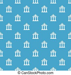 Colonnade pattern seamless blue - Colonnade pattern repeat...