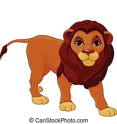 Walking Lion - Fully editable illustration of a walking...