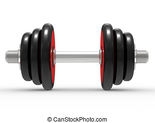 Modern Dumbbells on white background