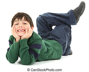 Crooked Twisted Child Smiling - Adorable and very flexible 7...
