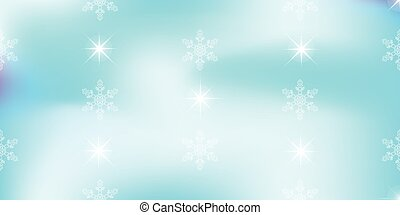 Vivid vector background with snowflakes soft blue color. -...