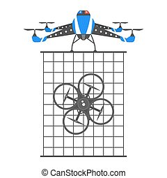 Drone illustration icons - Drone vector icon. Innovative and...