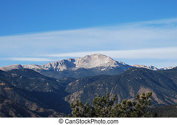 Pikes Peak in Co Springs on a cold December morning