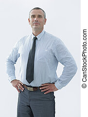 closeup portrait of confident businessman in shirt and...