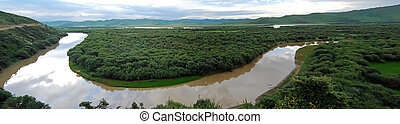 Wetlands - Taken in the upper reaches of the Yellow River in...