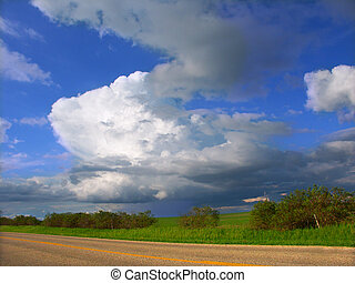 Illinois Thunderstorm - A thunderstorm sweeps across the...