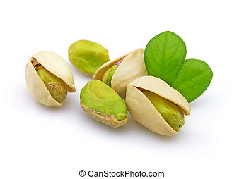 Pistachio - Dried pistachio with leaves
