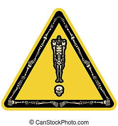 Skeleton exclamation mark - Illustration exclamation mark...