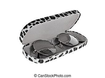Eye Glasses - Modern designer eye glasses isolated on white.