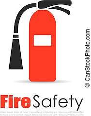 Fire extinguisher vector logo on white background