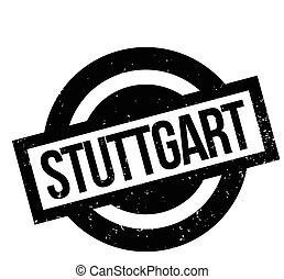 Stuttgart rubber stamp. Grunge design with dust scratches....