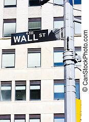 美國, 城市, 牆, 簽署, 街道, 約克, 新