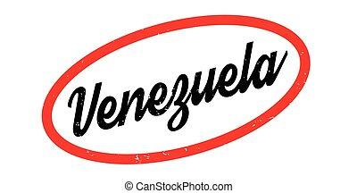 Venezuela rubber stamp. Grunge design with dust scratches....