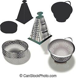 kitchen utensil made of aluminium