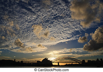 dramatic sydney sky - Dramatic Sky over Sydney Opera House...