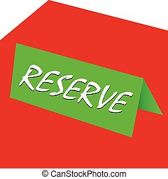 reserved table illustration