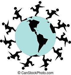 run on the world illustration