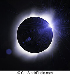 Sun eclipse with sun flare