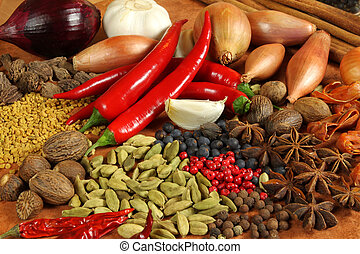 Food - Herbs and spices selection Aromatic ingredients and...