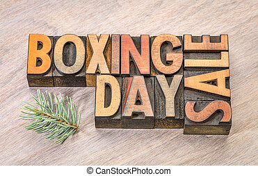 boxing day sale sign in wood type - boxing day sale sign in...