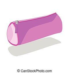 Pencil case vector purpure. - Pencil case vector purpure...