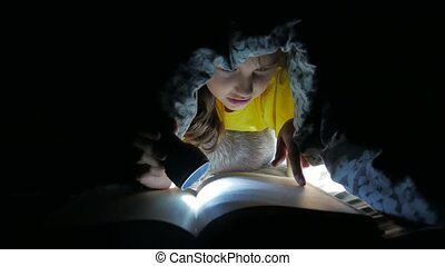 child teen and dog reading girl reads book at night kid with...