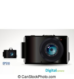 digital camera - proffesional slr digital camera - vector/...