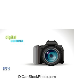 digital camera - proffesional slr digital camera - vector...