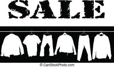 sale clothing white illustration