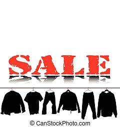 sale clothing black illustration