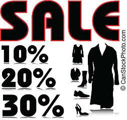 sale clothing and footwear illustration