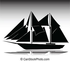 ship old illustration