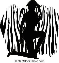 sexy zebra girl illustration