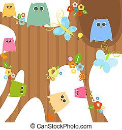 owls  - cute little owls