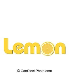 lemon text - illustration of lemon text on isolated...