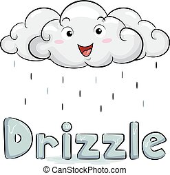 Cloud Mascot Drizzle Illustration - Illustration of a White...