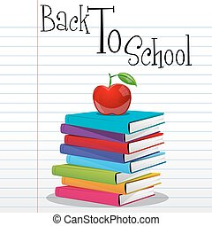 back to school - illustration of back to school on white...