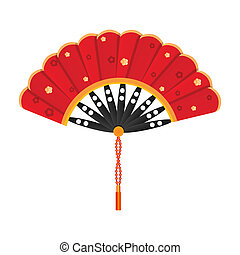 silky fan - illustration of silky fan on white background