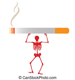 skeleton and cigars vector illustra