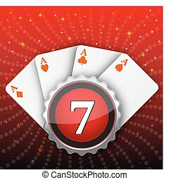 casino card - illustration of casino card on white...