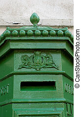 19th century Irish Postbox - top detailing of a 19th century...