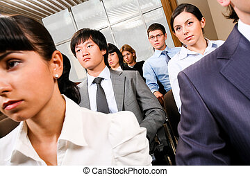 Business convention - Image of confident people presenting...