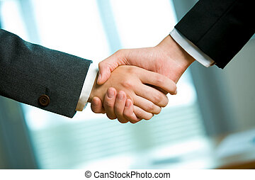 Congrats - Photo of handshake of business partners after...