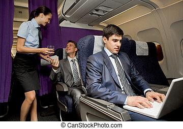 em, avião