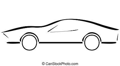 sport car line illustration